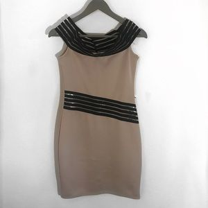 Dresses & Skirts - Black and beige bodycon dress